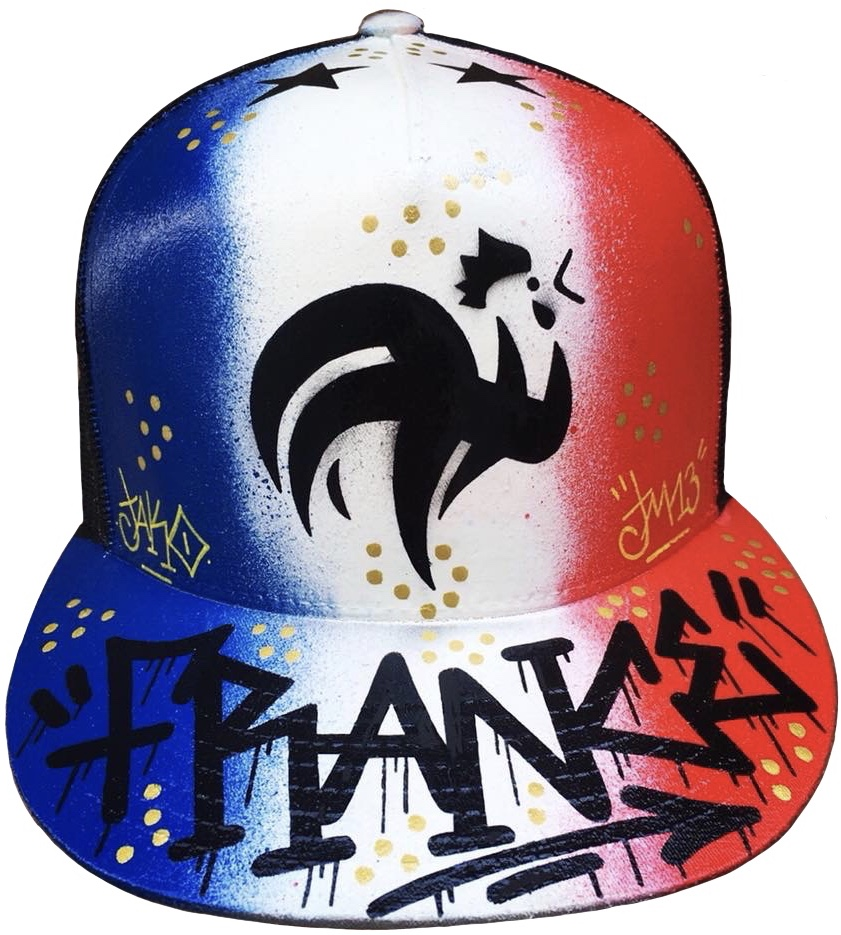 casquette-graffiti-perso-france-foot-nom-caps-graff-Jako
