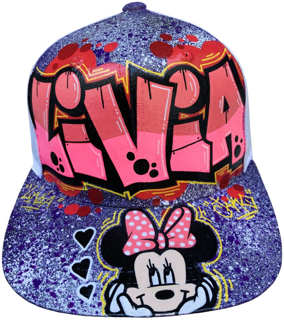 casquette-graffiti-perso minnie mouse-nom-caps-graff-Jako