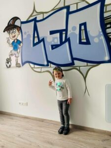 LEO _ CHAMBRE ENFANT GRAFFITI _ CUSTOM _ FOOT _ JAKO CUSTOM